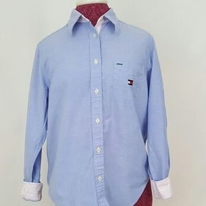 Womens Tommy Hilfiger Long-Sleeve Button-Down sz 8